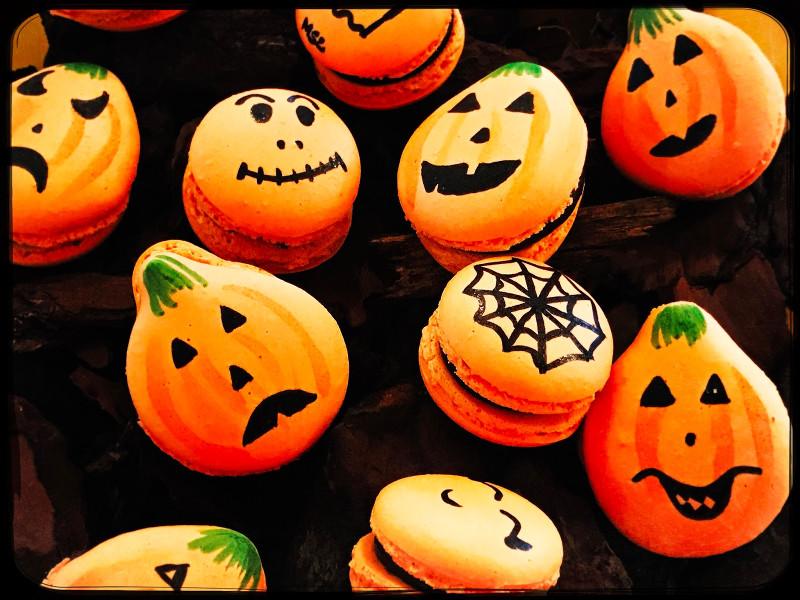 Halloween macaron recept