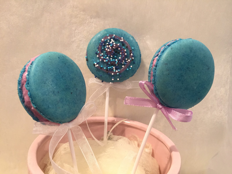 Macaron lollipop recept