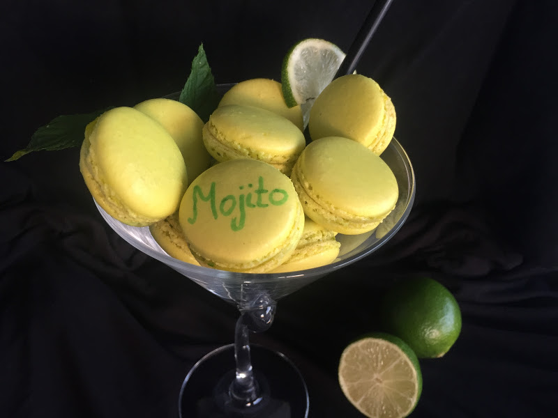 Mojito macaron recept