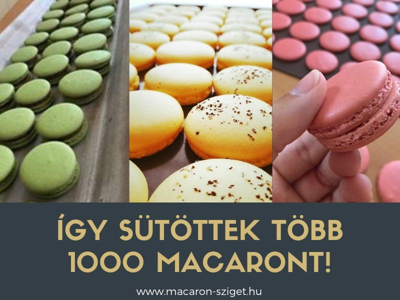 Így sütöttek több ezer macaront!